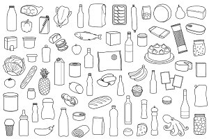 Food Products Set