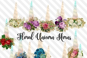 Floral Unicorn Horns