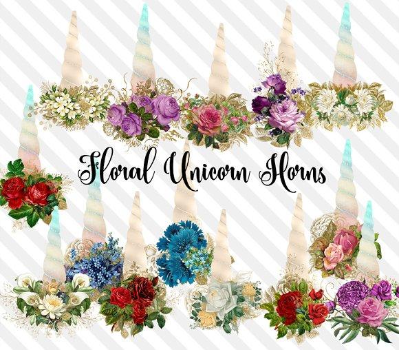Floral Unicorn Horns