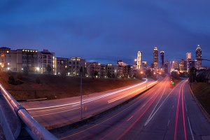 Panorama of night Atlanta