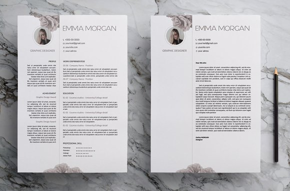 Rose CV Resume Template M