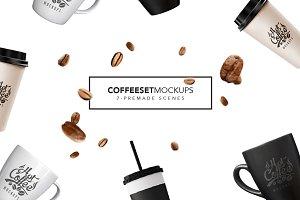 Coffee Set Mockups