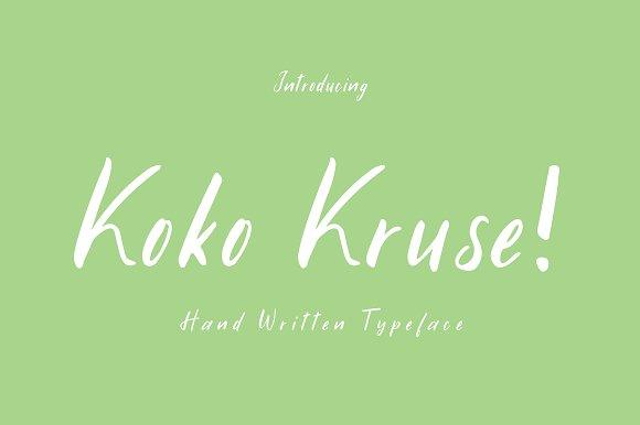 Koko Kruse Hand Written Font