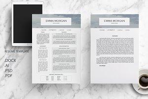 Sky CV / Resume Template / M