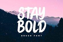 STAY BOLD Brush Font