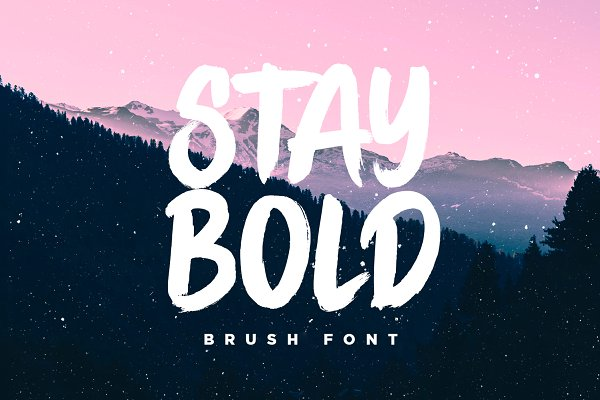 STAY BOLD Brush Font