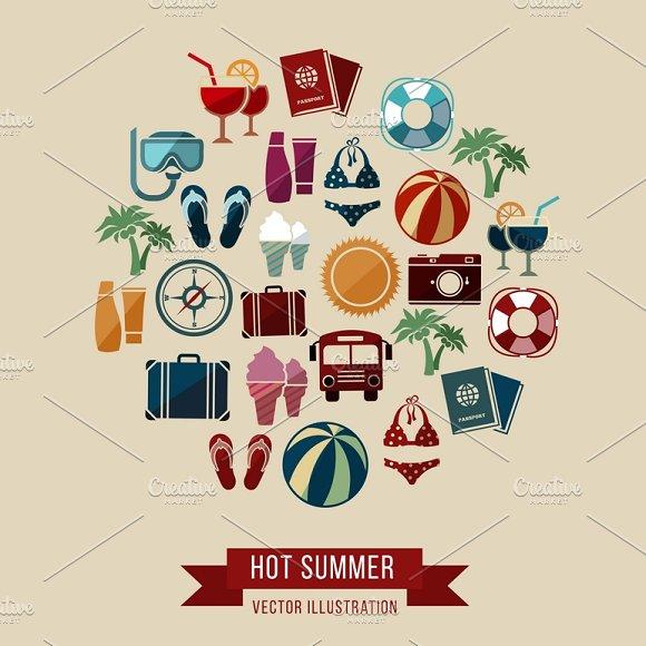Summer Vacation Vector Concept