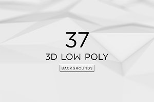 37 Low Poly Backgrounds + free demo