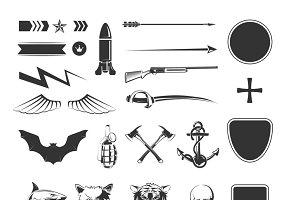 Military symbols mega set