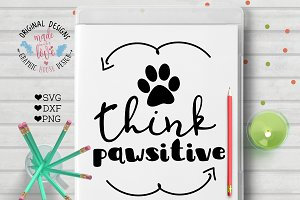 Think Pawsitive Cutting File