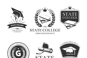 University and school emblems