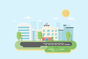 City Landscape. Vector illustration