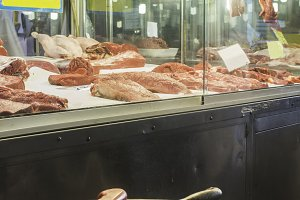 Meat in the market