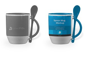 Spoon Handle Mug Design Mockup