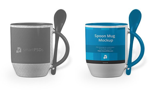 Download Spoon Handle Mug Design Mockup