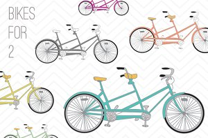 Bicycle Clip Art - Bikes For 2