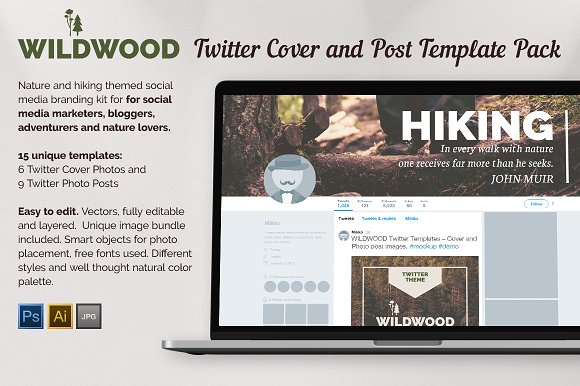 Wildwood twitter templates pack twitter templates creative market wildwood twitter templates pack twitter pronofoot35fo Choice Image