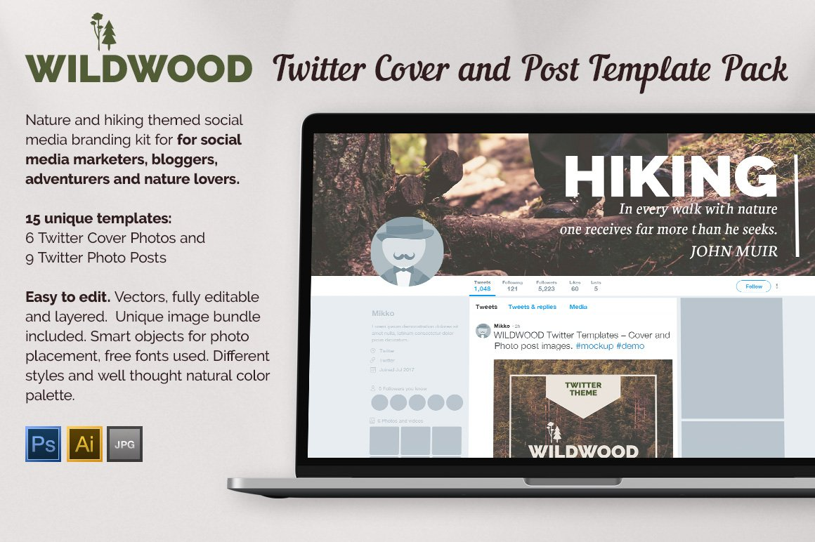 WILDWOOD Twitter Templates Pack
