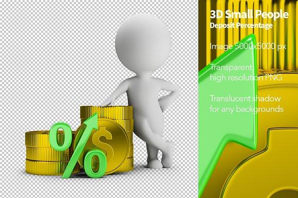 3D Small People Deposit Percentage