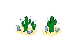 Cactus & Broken Skate