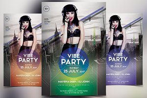 Vibe Party - PSD Flyer Template