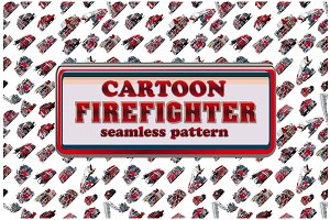 Cartoon Fire Truck seamless pattern