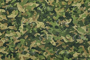 Green military camouflage