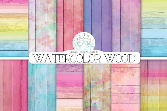WATERCOLOR WOOD Digital Texture
