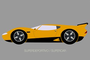 supercar vector illustration