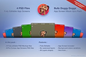 Bullz DDoggz - App Screens Mockup