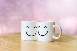 Two happy cups