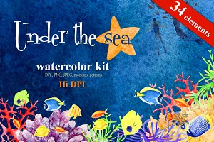Watercolor kit - Under the Sea
