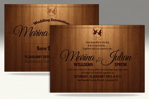 Simple elegant Wedding Card Template