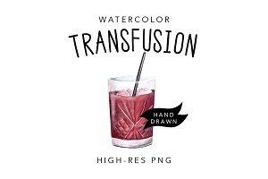 Watercolor Transfusion Cocktail