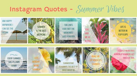 Instagram Graphics Summer Vibes