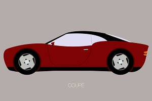 vector flat design car