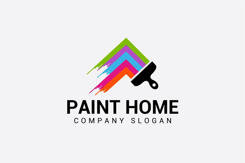 paint home ~ Logo Templates ~ Creative Market