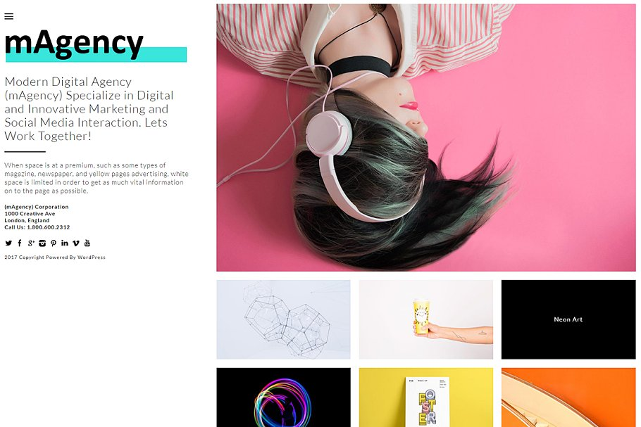 mAgency WordPress Theme - WordPress Themes | Creative Market Pro