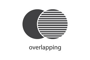 Overlapping glyph icon