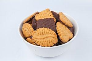 chocolate coated cookies