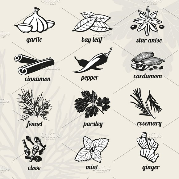 Spice Icons Set