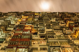 Overcrowded Flat in Hong Kong