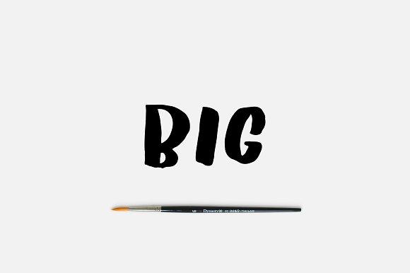 BIG Font Fun Brush Font
