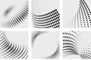 Halftone dots effects backgrounds