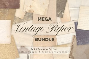Vintage Paper & Book Cover Bundle