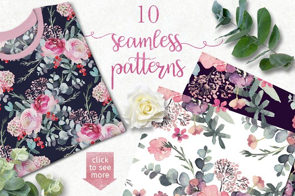 20% OFF Seamless Floral Patterns