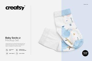 Baby Socks 2 Mockup Set