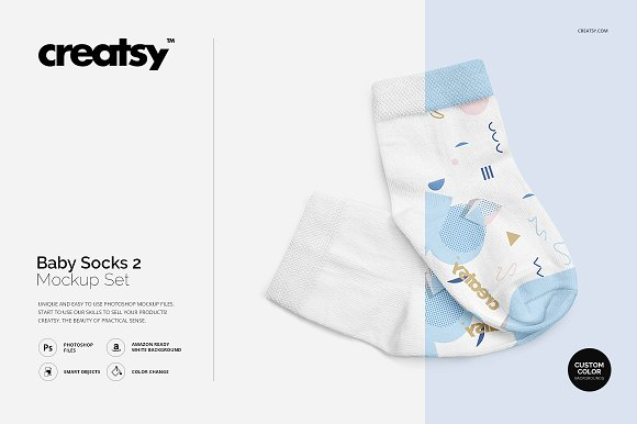 Download Baby Socks 2 Mockup Set