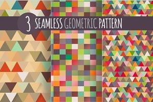3 x Geometric Pattern