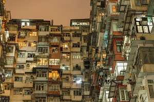 Flats in a District of Hong Kong